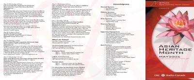 2006 Calendar of Events, Page 1